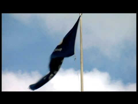 Gvs exterior Royal Bank of Scotland RBS HQ and flag
