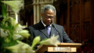 GVs Memorial service for eighth anniversary of Damilola Taylor's death Richard Tayalor reading lesson SOT Today my son Damilola should have been...