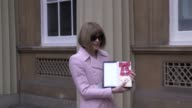 GVs of Anna Wintour after receiving her damehood at an investiture ceremony in Buckingham Palace Also GVs of Anna and her daughter Bee Shaffer
