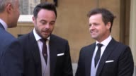 GVs of Anthony McPartlin and Declan Donnelly at Buckingham Palace as they collected their OBEs for their contribution to television They admit it was...