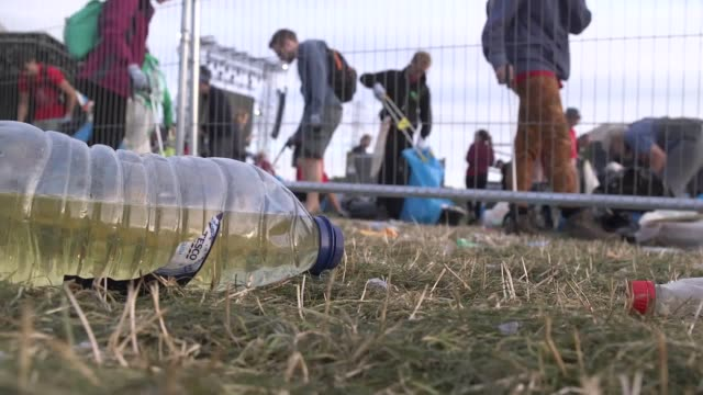 Gvs of the aftermath of Glastonbury 2017 as the cleanup operation gets underway The Worthy Farm festival is having a fallow year in 2018 to allow the...