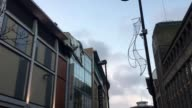 GVs of wind damage to the roof of Debenhams in Eldon Square shopping centre on Newgate Street in Newcastle Debris from the damage can be seen strewn...