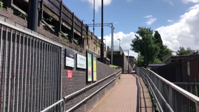 GVs of Witton railway station in Birmingham near Aston Villa's stadium where a 14yearold girl was allegedly attacked by two different offenders on...