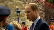 GVs Poppy installation / Duke and Duchess of Cambridge and Prince Harry open Tower of London installation William Kate and Harry chatting / Royals...