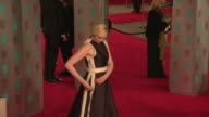 Gwendoline Christie at The EE British Academy Film Awards at The Royal Opera House on February 14 2016 in London England