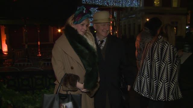 Gwendoline Christie Stephen Jones Abbey Clancy Jade Parfitt Patrick Grant at Celebrity Sightings Love magazine on 15th December 2014 in London England