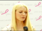 Gwyneth Paltrow on how she got involved with Estee Lauder and how they approached her about 'Pleasures' on the breast cancer research tiein with...