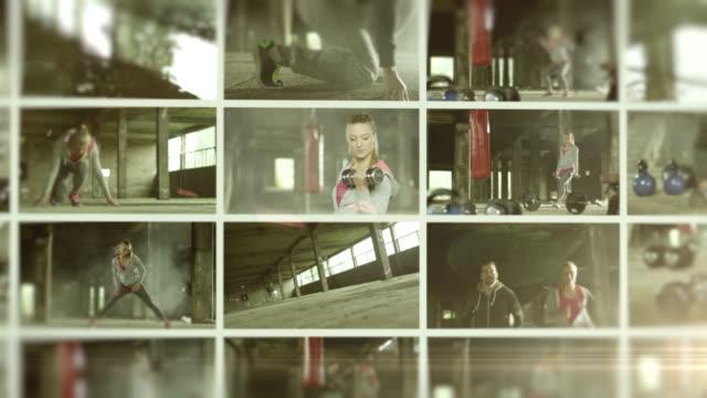 Gym. Video Wall.