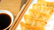 Gyoza fried Japanese Food,popular in Japan and Asia.