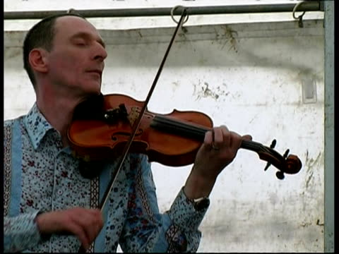 Gypsy Fire violinist performing, Great Britain