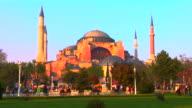 WS Hagia Sophia at sunset, Istanbul, Turkey