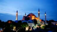 Hagia Sophia, Istanbul, Turkey, Timelapse