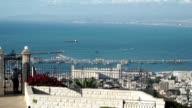 Haifa Bay on a warm spring day