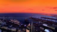 Haifa Stadt port Luftaufnahme
