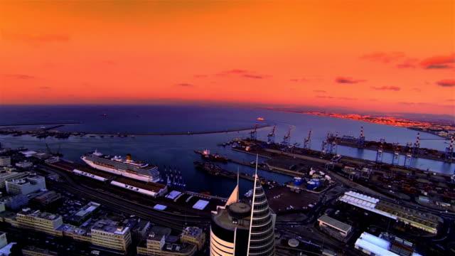 Haifa city port  Aerial view