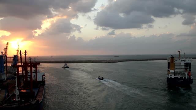 Haifa Port Sunset