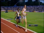 Haile Gebrselassie overtakes Craig Mottram on the final straight and wins Men's 5000m 2004 Crystal Palace Grand Prix London