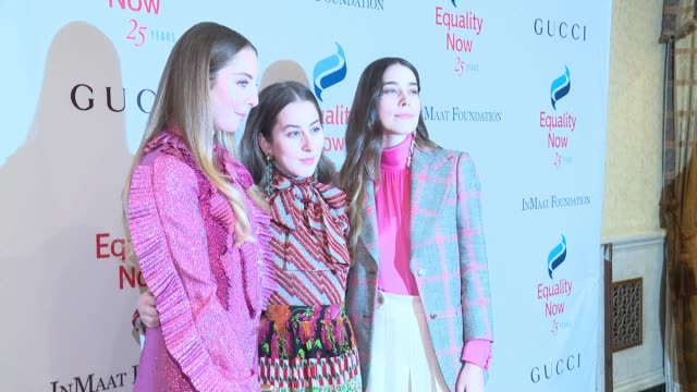 Haim at 2017 Equality Now Gala at Gotham Hall on October 30 2017 in New York City