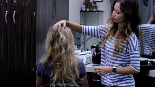 HD hair styling consultation