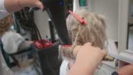 Hairdresser drying