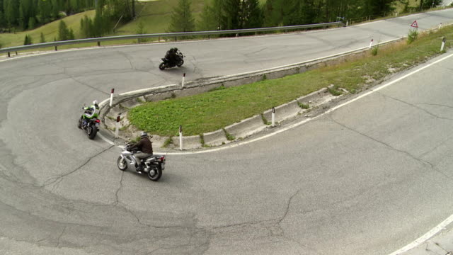 HA Hairpin Curve on Gardena Pass (Passo Garnea) in the Dolomites Mountains