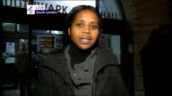 British relatives meet in Southwark ENGLAND London Southwark Shelane Chapman LIVE 2WAY interview