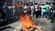 Haiti opposition demonstrators contest preliminary results of an October 25 first round presidential election in Port au Prince