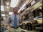Halifax shares begin trading I/C Alders Television Department Man looking at videos Vox pops