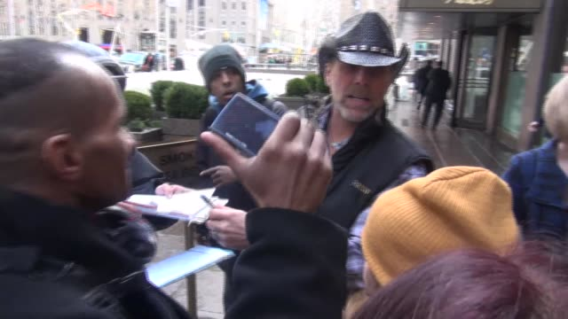 WWE Hall Of Fame wrestler Shawn Michaels greeting fans while arriving at SiriusXM Satellite Radio at Celebrity Sightings in New York on February 10...