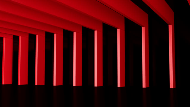 Hall with red Beams