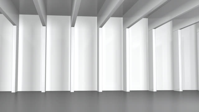 Hall with white Beams