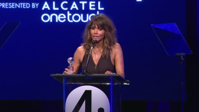 PERFORMANCE Halle Berry at the 2nd Annual unite4humanity Presented By ALCATEL ONETOUCH on February 19 2015 in Beverly Hills California