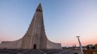 Hallgrimskirkja cathedral in reykjavik iceland