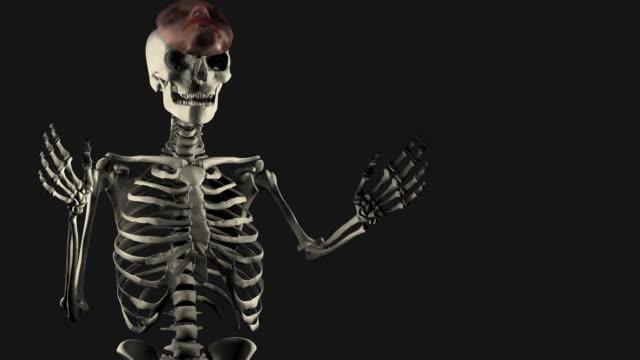 Halloween, Spokesman Skeleton with Mask