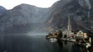 Hallstatt mountain village Landschaft berühmten Blick
