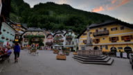 Hallstatt town square evening