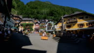 Hallstatt town square morning