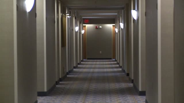 Hallway Inside Indianapolis Marriott on October 09 2013 in Indianapolis Indiana
