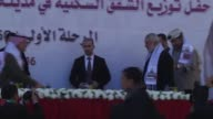 Hamas Political Bureau Vice President Ismail Haniyeh Chairman of the Qatar's National Committee for the Reconstruction of Gaza Ambassador Mohammed...