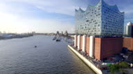 Hamburg Elbphilharmonie and Hafencity Aerial View