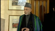 Hamid Karzai vists Wellington Barracks Hamid Karzai speech continued SOT the end result is a peaceful Afghanistan/ I was with the PM this morning/...