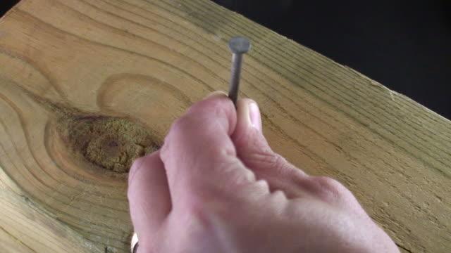 HD Hammering Nails Video