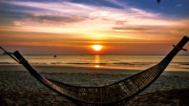 Hammock and sunset