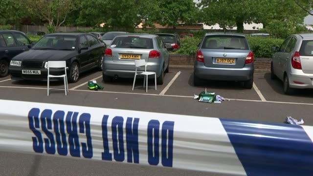 Hampton Sainsbury's car park stabbings Ethem Orhon jailed T20051608 / TX General view first aid kit on ground