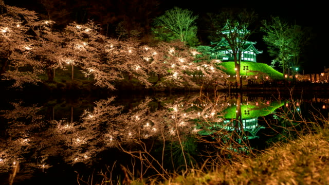 Hanami Festival or Cherry Blossoms Festival at the Takada Park in Joetsu city, Niigata, Japan