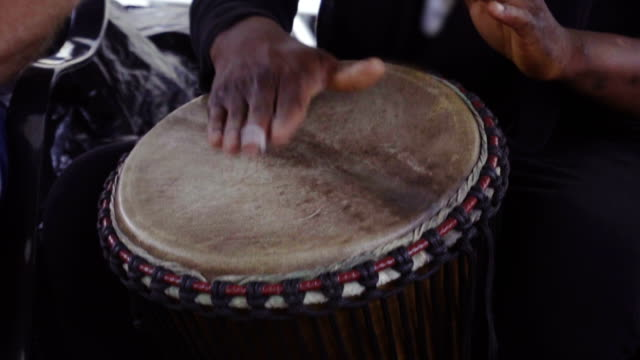 Hand and drum