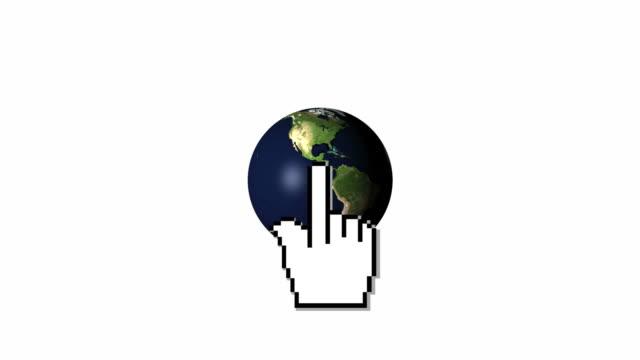 Hand Cursor Earth