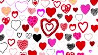 Hand Drawn Herzen-Kamera zoomen durch (Endlos wiederholbar)