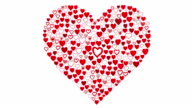Disegnati a mano cuori-grande cuore rosso Reveal
