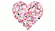Disegnati a mano cuori-grande cuore visualizzare (HD con alfa)